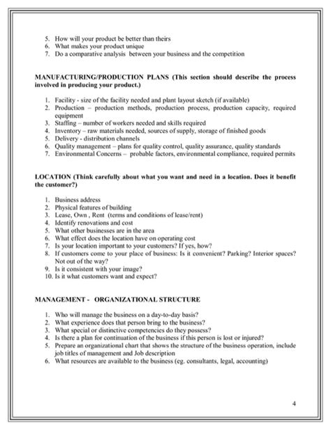 business plan template manufacturing business plan template manufacturing for free