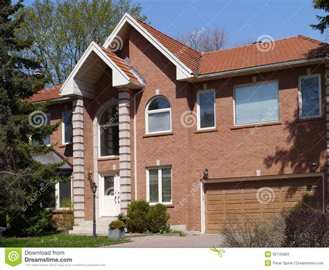modern brick house modern brick house stock photos image 30745983