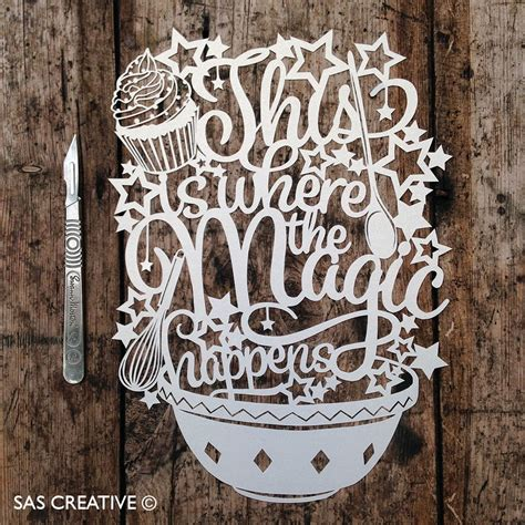 Sas Creative This Is Where The Magic Happens Papercut Silhouette Templates For Paper Cutting