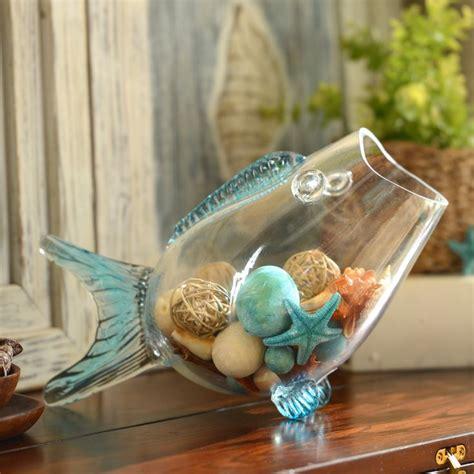 1000 Images About Nautical Decorating Fluid Design Glass Fish Shaped Bowl Centerpieces