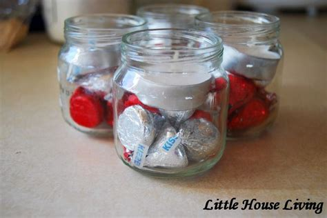 crafts with jars jars of kisses valentine s day craft