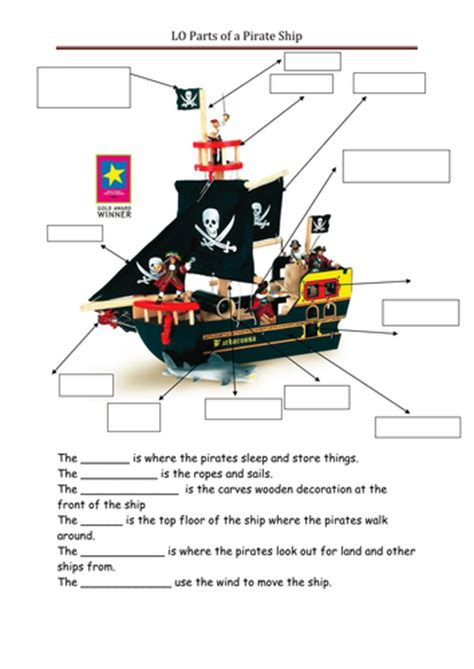 parts of a boat ks2 pirates by ppateacher teaching resources tes