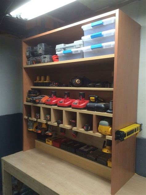 cordless drill storage  charging station diy projects
