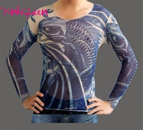 tattoo cover up long sleeve shirt tattoo dress 11 87 blue koi fish tattoo long shirt pink queen