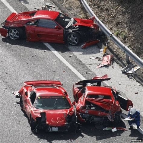 accident recorder 2007 ferrari f430 engine control most expensive car crash japan s multi ferrari crash sets world record video