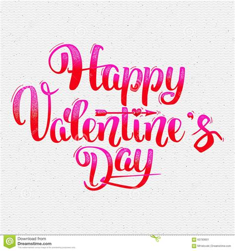 happy valentines day lettering happy valentines day lettering options stock vector