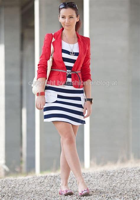 Dress Blazer Marun marine striped dress and blazer style chic