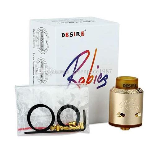 Desair Rabies Rda Clone 11 clone rabies rda 24mm mad dogg v2 atomizer high quality amazing desire rabies rda in stock