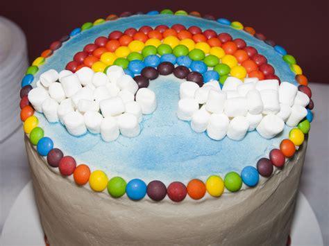 Cake Rainbow Decoration rainbow wishes birthday express