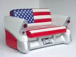 Truck Tailgate Chair 56 Chevy Sofa American Flag 56 Chevrolet Car Sofa