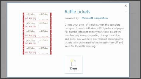 raffle ticket template word the free website templates