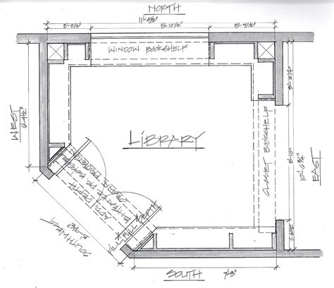 design plans custom built home library in cheery wood a case study