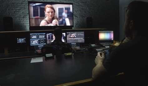 color grading software go inside a professional color grading suite