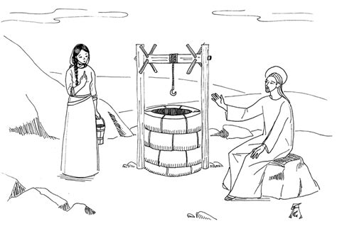 jesus and the samaritan at the well coloring pages orthodoxy for st photini the samaritan