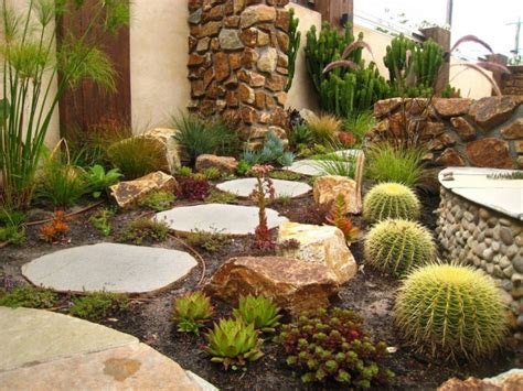16 Cactus Rock Garden Designs Ideas Design Trends Cactus Garden Designs