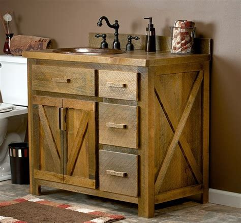 barn board bathroom vanity a real reclaimed barn wood vanity with an optional