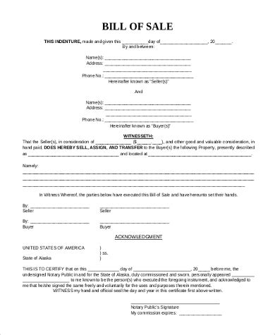 Mobile Home Bill Of Sale 6 Free Documents In Pdf Bill Of Sale Template For Mobile Home