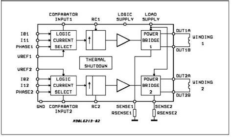 integrated circuit block diagram l6219 integrated circuit chip new original stepper motor driver of circuitboardchips