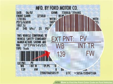 find color code from image 3 ways to find the paint color code on ford vehicles wikihow