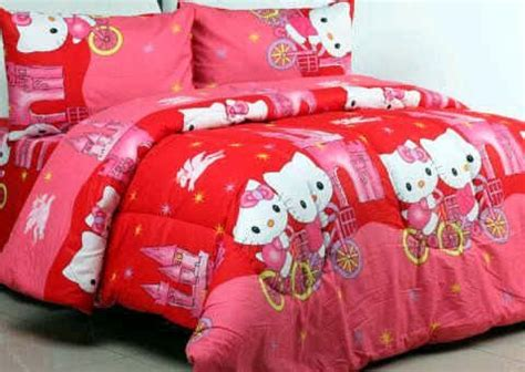 Sprei Hello Merah Detail Product Sprei Dan Bedcover Hello Castle