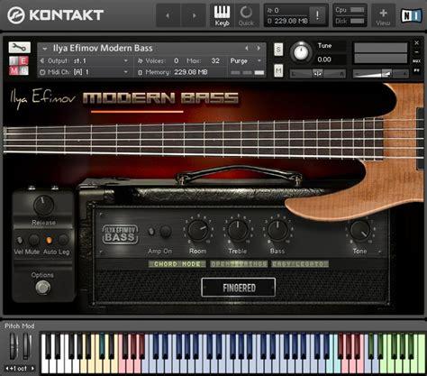 Sound Library Kontakt ilya efimov modern bass 5 string bass guitar sle library for kontakt