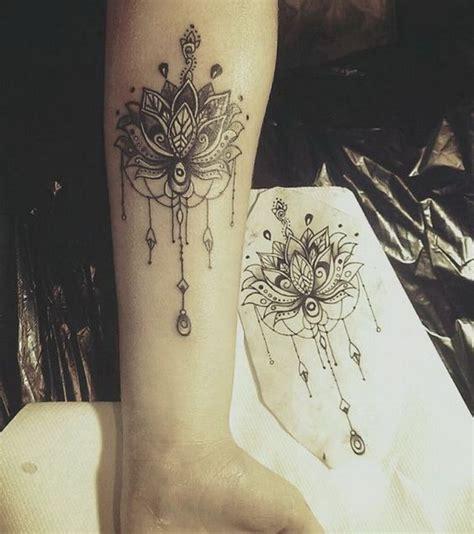 mandala tattoo lower arm forearm mandala flower tattoo