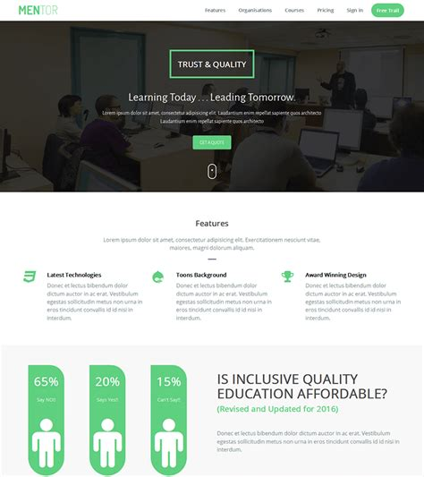 free templates for bootstrap mentor free education bootstrap theme bootstrapmade