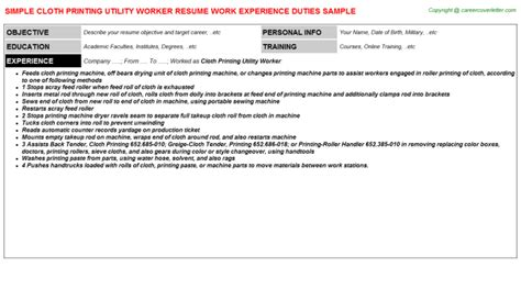 Utility Worker Cover Letter by Resume On Printer Commercial Essayquality Web Fc2