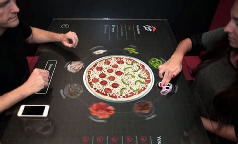 pizza hut table dubai pizza hut s concept touch table lets you swipe your way to