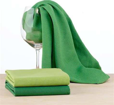 Green Kitchen Towel Set by Green Flour Sack Kitchen Towel Contemporary Dish