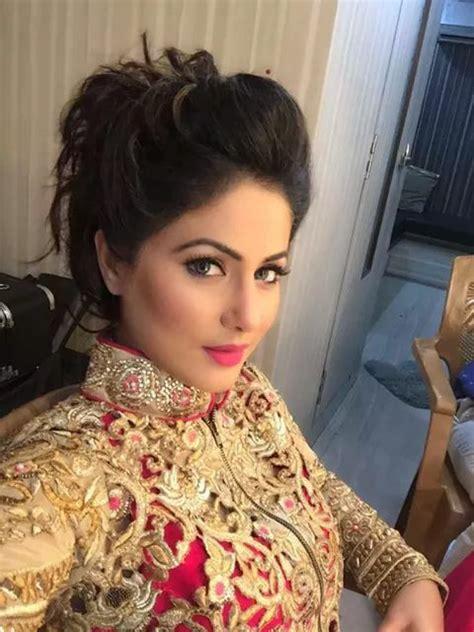 akshara wedding hairstyle heena khan aka akshara indian tellywood pinterest