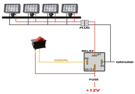 4 pin relay wiring diagram aux light get free image
