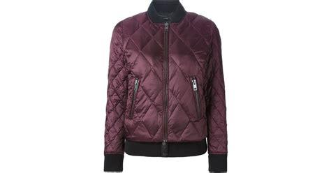 Newyork Bomber Jacket Pink 1 diesel quilted bomber jacket in purple lyst