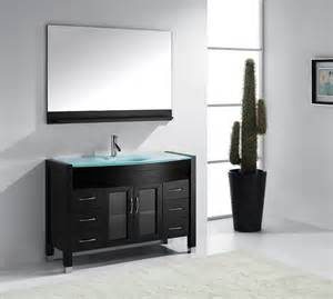 48 inch sink bathroom vanity 48 inch single sink bathroom vanity by virtu usa