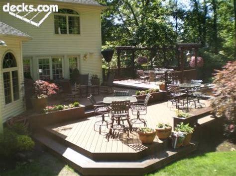 Multi Level Backyard Ideas Multi Level Deck Picture Gallery Yard Garden Ideas Pinterest Planters Decks And Backyards