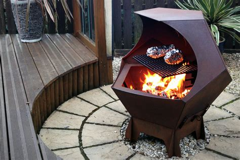 Steel Firepit 35 Metal Pit Designs And Outdoor Setting Ideas