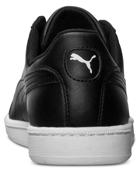 black and white sneakers mens lyst s smash leather casual sneakers from