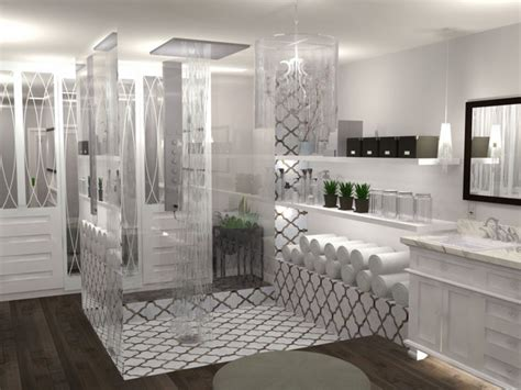 Walk In Closet And Bathroom Combination by White Transitional Bathroom Closet Combination Designed By
