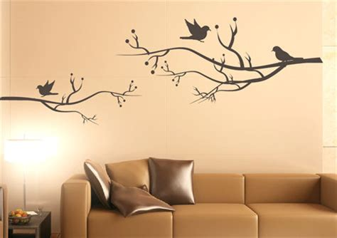 nature wall stickers items similar to bird wall decal singing birds nature wall decal living room wall sticker