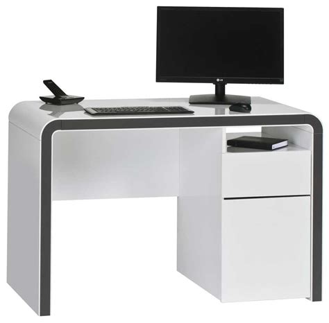maja 9502 white grey computer desk