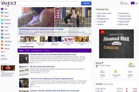 yahoo new homepage goes live tech news digital