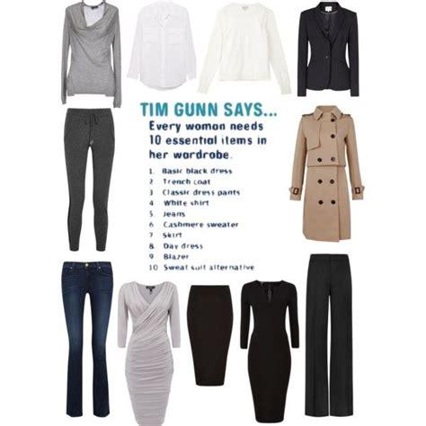 Tim Gunns Top Ten Fashion Essentials by Quot Tim Gunn S Essential 10 List Quot By Mcfarlane On