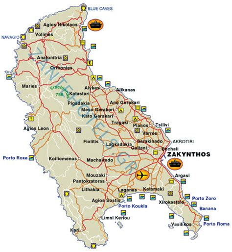 printable map of zante zakynthos map my blog