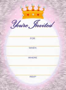Princess Baby Shower Invitation Templates Free by Princess Shower Invitation Template