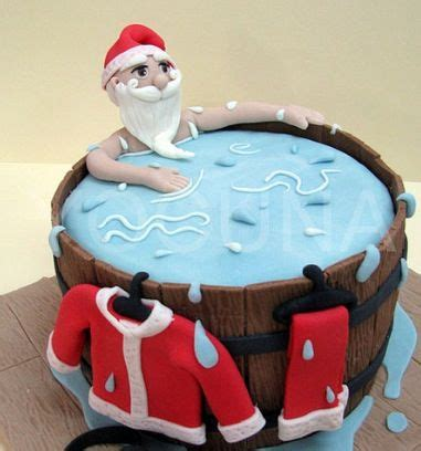santa in the bathtub santa in a hot tub cake i want this food pinterest hot tubs cakes and tubs