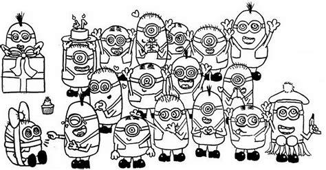 imagenes de navidad para colorear de los minions personajes de los minions 3 plantilla para pintar y