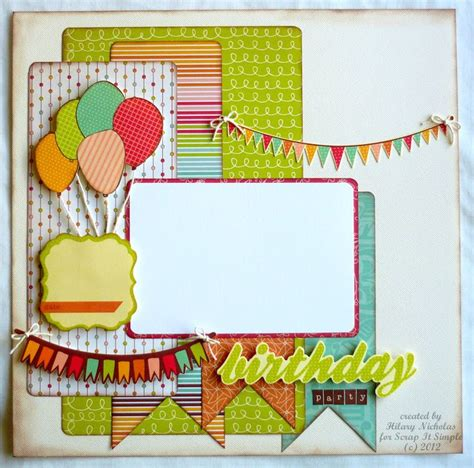 layout of scrapbook 1000 images about scrapbook birthday layouts on