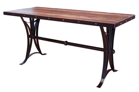 counter height table height antique multicolor counter height dining table with iron base