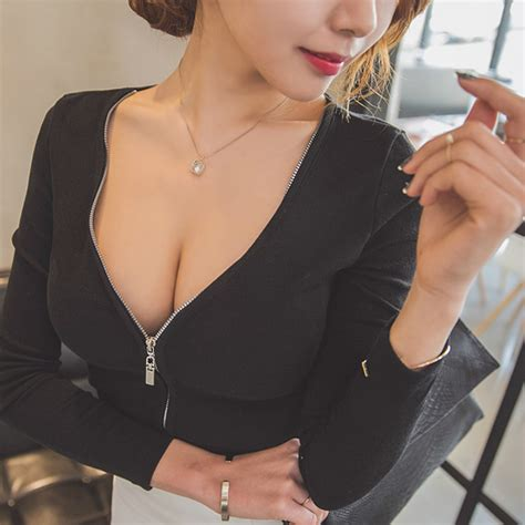 hot sale slim low cut deep v neck columnsheath dress bodycon dresses popular cleavage tops buy cheap cleavage tops lots from