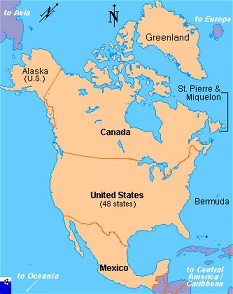 clickable map of north america